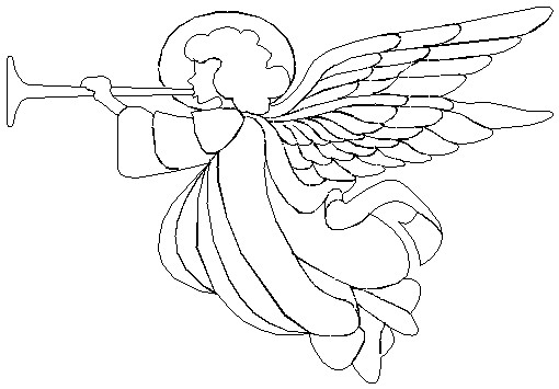 Free Angel With Trumpet Clipart