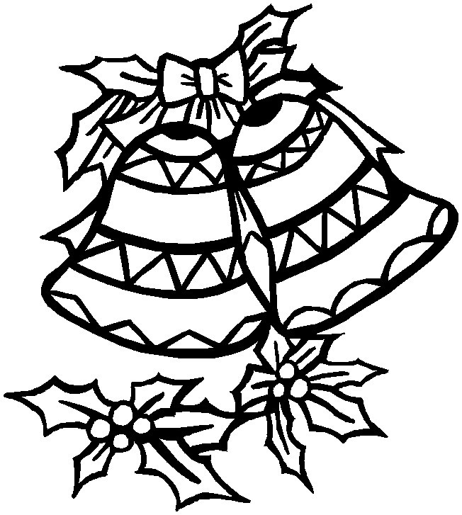 christmas things colouring pages