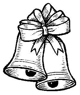 Printable Christmas Coloring Page Two Bells With A Bow