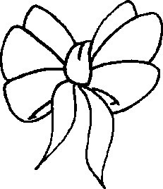 bow coloring page Coloring Pages Ideas