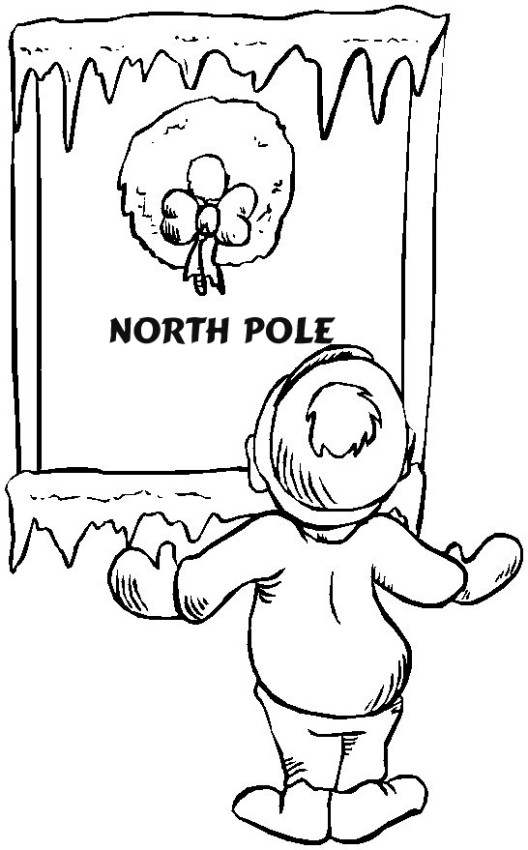 christmas coloring pages north pole photo 34