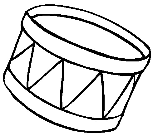 Printable christmas coloring page drum for Drum coloring pages to print