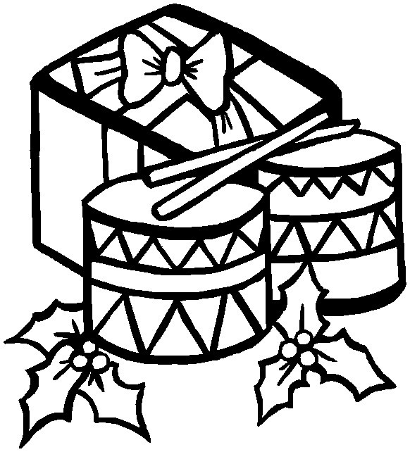 Drum coloring pages