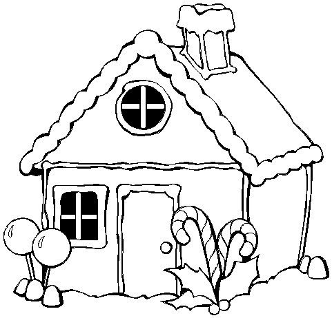 gingerbread houses coloring pages - gingerbread house