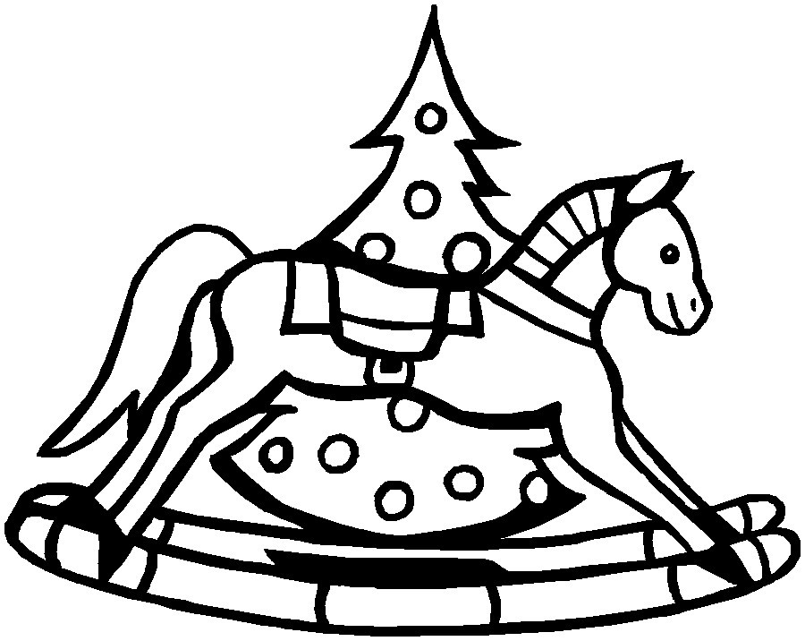 Rocking Horse Coloring Pages Printable