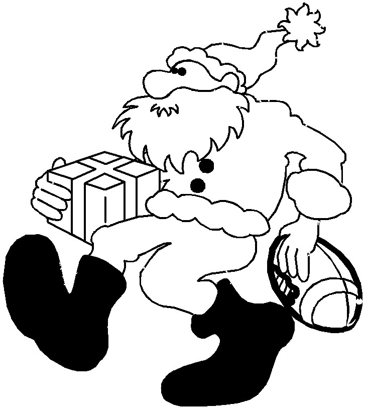 christmas football coloring pages - photo#1