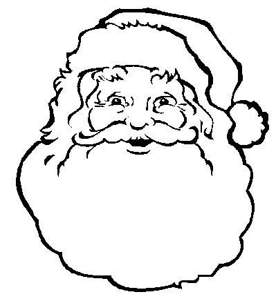 Picture Of Santa S Face | New Calendar Template Site