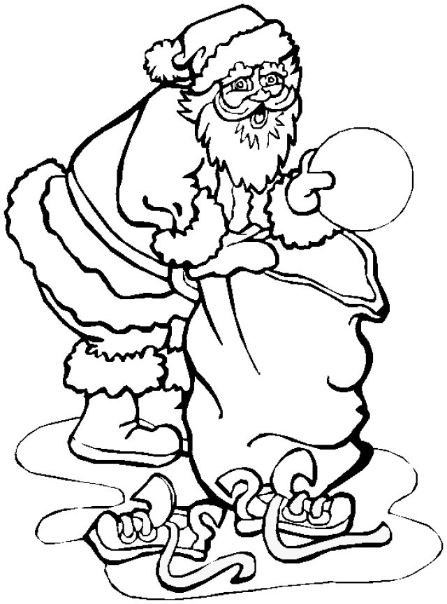santa claus emptying his sack coloring index