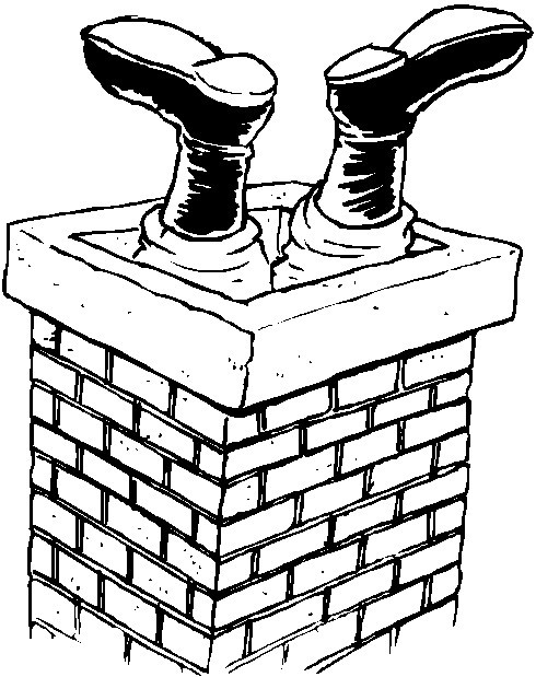 chimney coloring pages christmas - photo#34
