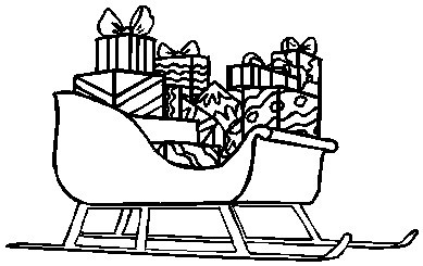 Coloring pages of santa s sleigh coloring page for Santa and sleigh coloring pages