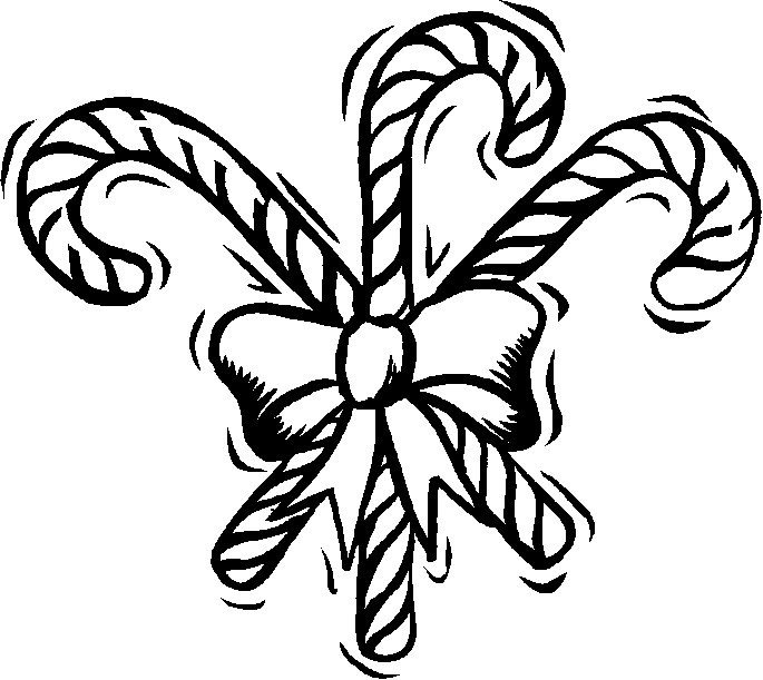 Christmas Candy Cane Coloring Pages Printable