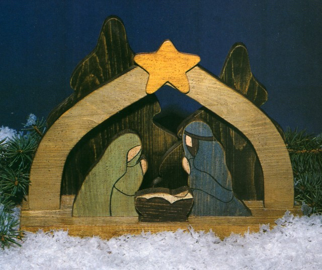 Wood pattern nativity design patterns for Nativity cut out patterns wood