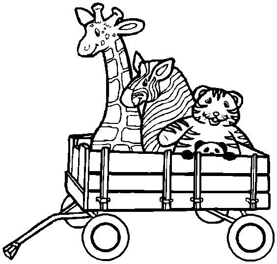 Red Wagon Coloring Pages Coloring Page