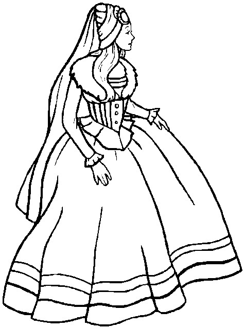Printable Easter Coloring Page Damsel